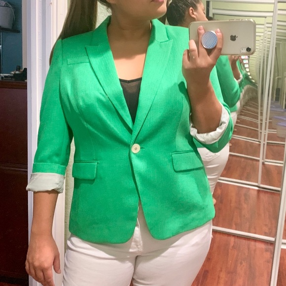The Limited Jackets & Blazers - [The Limited] Bright Green Blazer